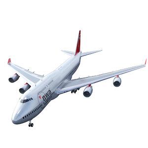 3D model airliner 400