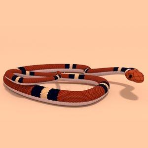 3D scarlet king snake anime