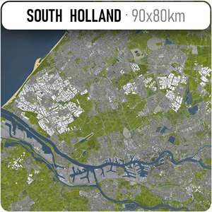 city south holland area 3D model