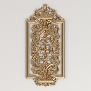 3D carved decorative panel