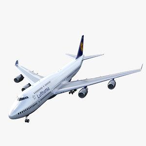 3D model airliner jumbo jet