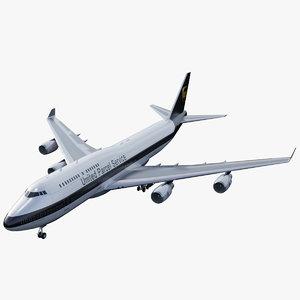 3D airliner jumbo flight