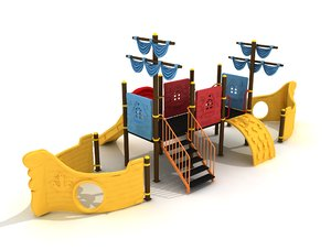 metal ship concept 3D model