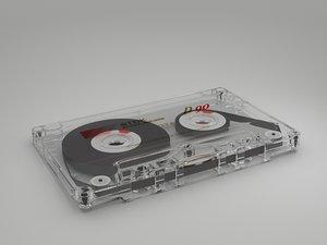 3ds max vintage cassette