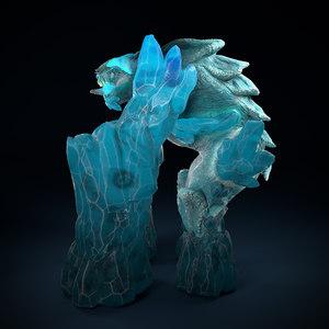 3D elemental pack character model