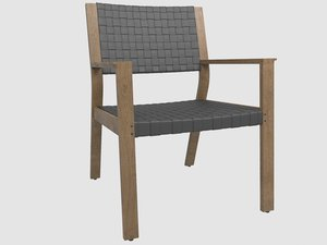 maze teak leather armchair model