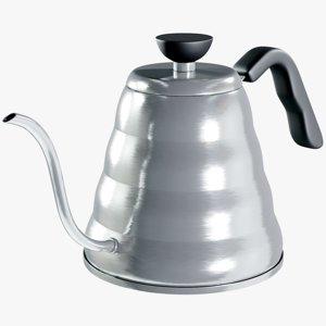 3D realistic drip kettle hario