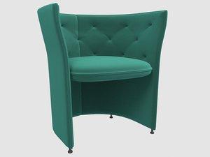 fogia niche armchair blue 3D