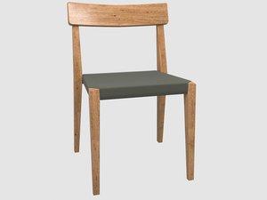 3D teka stackable chair roda model