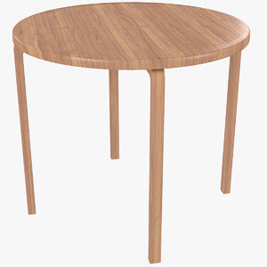 3D minimalist wooden artek alvar aalto