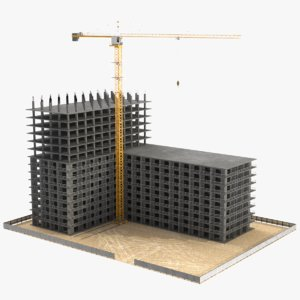 3D real construction site