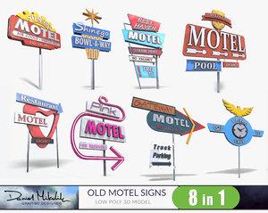 signs metalness 3D model