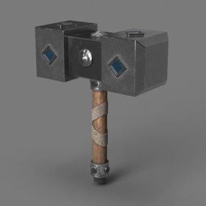 3D retro hammer