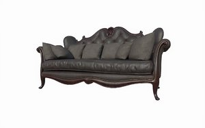3D leather sofa