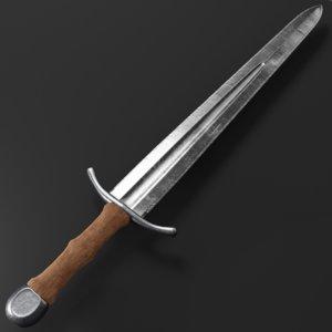 3D model steel sword