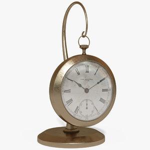 clock desk 3D model