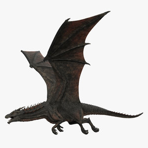 3D rigged dragon animation