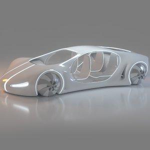 3D futuristic vehicle