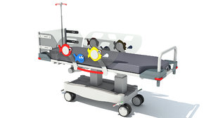 3D model transport stretcher trolley children