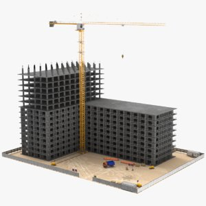 real construction site 3D