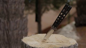 butterfly knife 3D