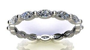 4x2 mm marquise diamonds 3D model