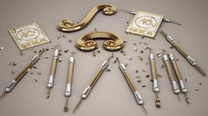 3D carving tools model