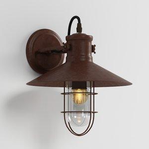 3D model wall lamp loft house