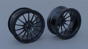 3D konig rennform wheels model