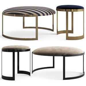 furniture pouf ottoman model
