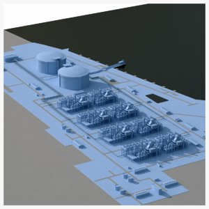 lng terminal ut 3D
