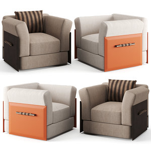 armchair chair fendi 3D