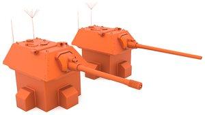 3D e-100 turret mk3