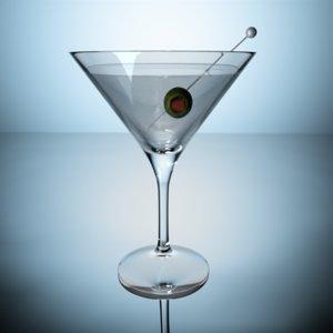 3D martini bar model