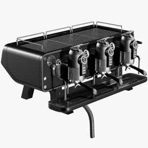 realistic coffee machine 3D model