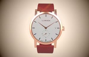 3D model llarsen helena wristwatch