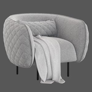 3D stock nook armchair