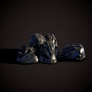 ready garbage bags 3D model