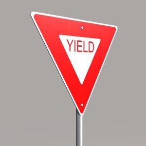 3d street sign yield model
