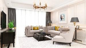 3D living room avangarde