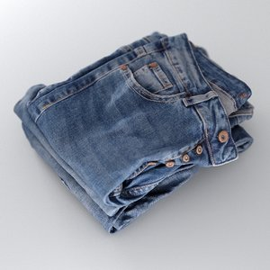 3D womens jeans stack folded