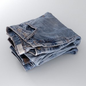 womens jeans stack folded model