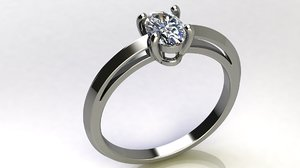 3D 6x4 mm oval diamond model