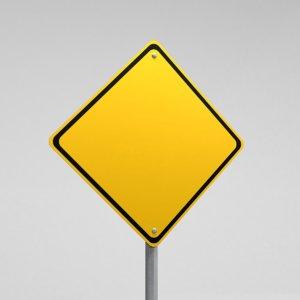 3d street sign warning