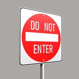 street sign enter 3d 3ds
