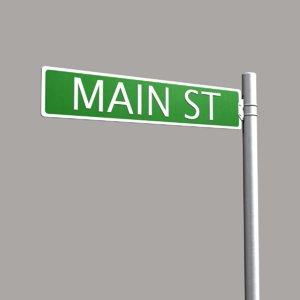 3d model street sign 01