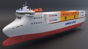 cargo ship container 3D model