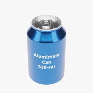 standard aluminium beverage 3D model