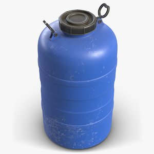 3D model barrel water tank contains