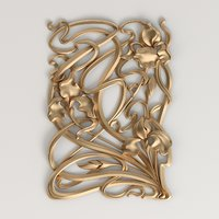 3D model of carved decor in the style of Art Nouveau | Fc_020